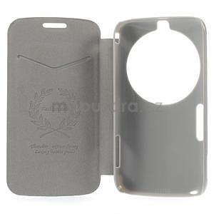 Oranžové peňaženkové puzdro na Samsung Galaxy K Zoom C115 - 7