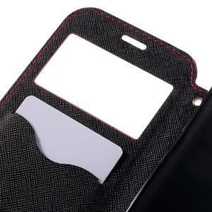 Diary puzdro s okienkom pre Samsung Galaxy S7 - červené - 7