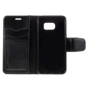 Rich PU kožené peněženkové pouzdro na Samsung Galaxy S7 - černé - 7