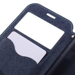 Diary puzdro s okienkom pre Samsung Galaxy S7 - svetlomodré - 7