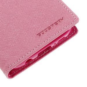 Goosper PU kožené pouzdro na Samsung Galaxy S7 - růžové - 7