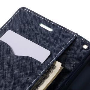 Goosper PU kožené pouzdro na Samsung Galaxy S7 - cyan - 7