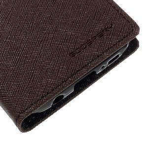 Goosper PU kožené puzdro pre Samsung Galaxy S7 - hnedé - 7
