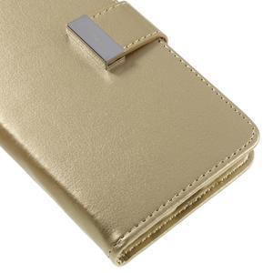 Luxury PU kožené pouzdro na Samsung Galaxy S7 - zlaté - 7