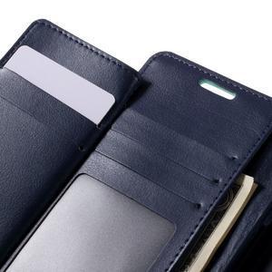 Luxury PU kožené puzdro pre Samsung Galaxy S7 - azúrové - 7