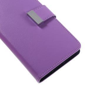 Luxury PU kožené puzdro pre Samsung Galaxy S7 - fialové - 7