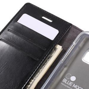 Bluemoon PU kožené puzdro pre mobil Samsung Galaxy S7 - čierne - 7