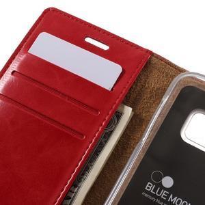 Bluemoon PU kožené puzdro pre mobil Samsung Galaxy S7 - červené - 7