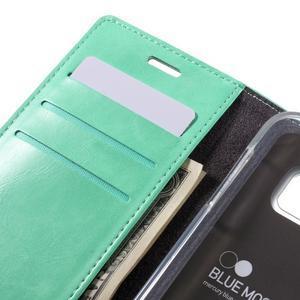 Bluemoon PU kožené pouzdro na mobil Samsung Galaxy S7 - cyan - 7