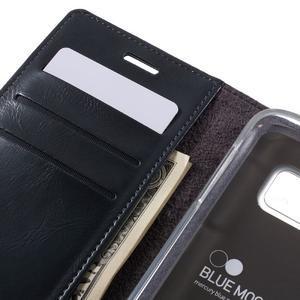 Bluemoon PU kožené puzdro pre mobil Samsung Galaxy S7 - tmavomodré - 7