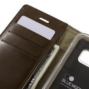 Bluemoon PU kožené pouzdro na mobil Samsung Galaxy S7 - hnědé - 7