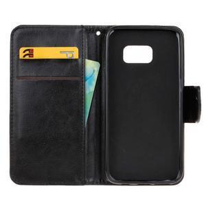 Stand peňaženkové puzdro pre Samsung Galaxy S7 - čierné - 7