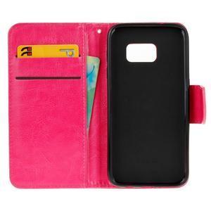 Stand peňaženkové puzdro pre Samsung Galaxy S7 - rose - 7