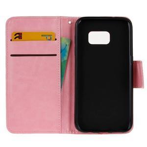 Stand peněženkové pouzdro na Samsung Galaxy S7 - růžové - 7