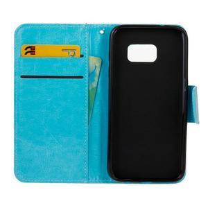 Stand peňaženkové puzdro pre Samsung Galaxy S7 - modré - 7
