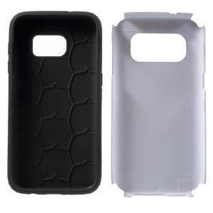 Dvoudílný odolný kryt na Samsung Galaxy S7 - stříbrný - 7