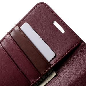 Sonata PU kožené pouzdro na Samsung Galaxy S7 - vínové - 7