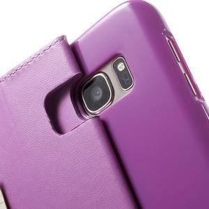 Sonata PU kožené puzdro pre Samsung Galaxy S7 - fialové - 7