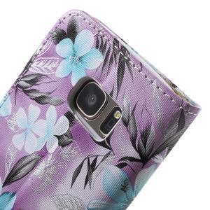 Flower pouzdro na mobil Samsung Galaxy S7 - fialové pozadí - 7