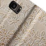 Kvetinové peňaženkové puzdro pre Samsung Galaxy S7 - béžovobiele - 7/7