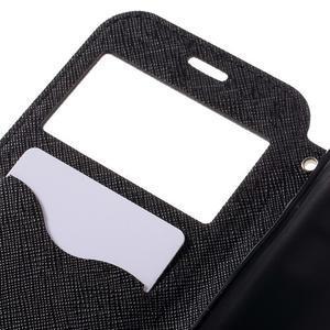 Diary pouzdro s okýnkem na Samsung Galaxy S7 - černé - 7