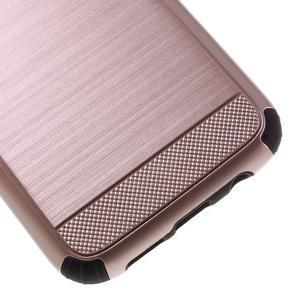 Odolný dvoudílný obal na Samsung Galaxy S7 edge - zlatorůžový - 7