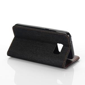 Jeans pouzdro na mobil Samsung Galaxy S7 edge - černomodré - 7