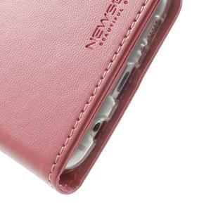 Rich PU kožené puzdro pre Samsung Galaxy S7 edge - ružové - 7