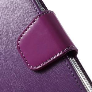 Rich PU kožené pouzdro na Samsung Galaxy S7 edge - fialové - 7