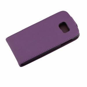 Flipové puzdro pre mobil Samsung Galaxy S7 edge - fialové - 7