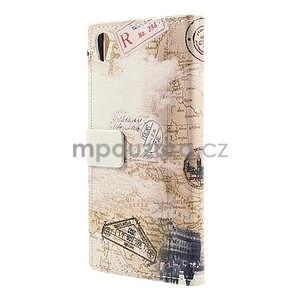 Peňaženkové puzdro pre Sony Xperia M4 Aqua - šikmá veža - 7
