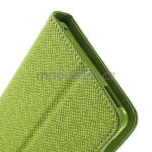 Zelené PU kožené Peňaženkové puzdro pre Sony Xperia M4 Aqua - 7