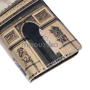 Peňaženkové puzdro pre Sony Xperia M4 Aqua - víťazný oblúk - 7