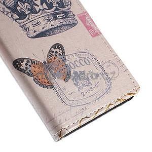 Peňaženkové puzdro pre Sony Xperia M4 Aqua - koruna motýľ - 7