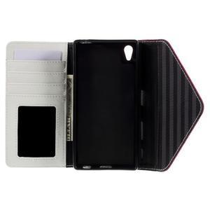 Stylové peněženkové pouzdro Sony Xperia Z5 - rose - 7
