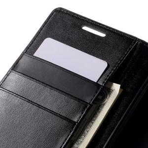 Sonata PU kožené peněženkové pouzdro na Sony Xperia Z5 - černé - 7
