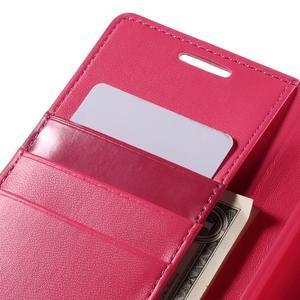 Sonata PU kožené peněženkové pouzdro na Sony Xperia Z5 - rose - 7