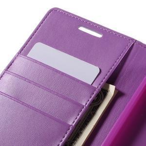 Sonata PU kožené Peňaženkové puzdro pre Sony Xperia Z5 - fialové - 7
