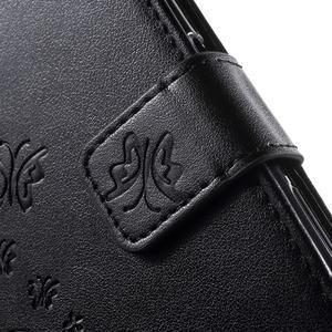 Butterfly PU kožené pouzdro na Sony Xperia Z5 - černé - 7