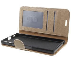 Grid PU kožené pouzdro na Sony Xperia Z5 - champagne - 7
