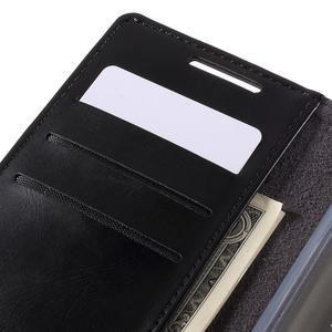 Moon PU kožené puzdro pre Sony Xperia Z5 - čierne - 7