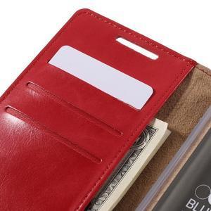 Moon PU kožené pouzdro na Sony Xperia Z5 - červené - 7