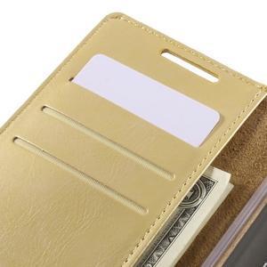 Moon PU kožené puzdro pre Sony Xperia Z5 - zlaté - 7