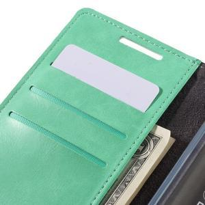 Moon PU kožené puzdro pre Sony Xperia Z5 - cyan - 7