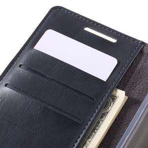 Moon PU kožené puzdro pre Sony Xperia Z5 - tmavomodré - 7