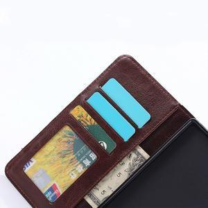 Štýlové jeans puzdro pre mobil Sony Xperia Z5 - černomodré - 7