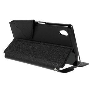 Diary puzdro s okienkom na Sony Xperia Z5 - čierne - 7
