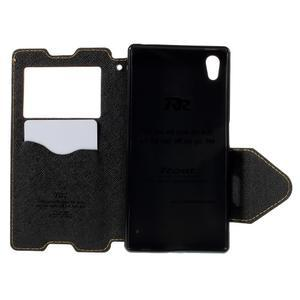 Diary puzdro s okienkom na Sony Xperia Z5 - žlté - 7