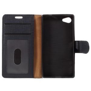 Grid Peňaženkové puzdro pre mobil Sony Xperia Z5 Compact - čierne - 7