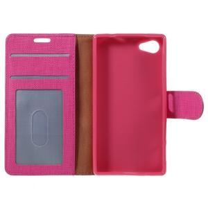 Grid Peňaženkové puzdro pre mobil Sony Xperia Z5 Compact - rose - 7